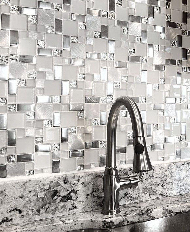 - 21 White Subway Tile Backsplashes Are Elegant Glass Tile
