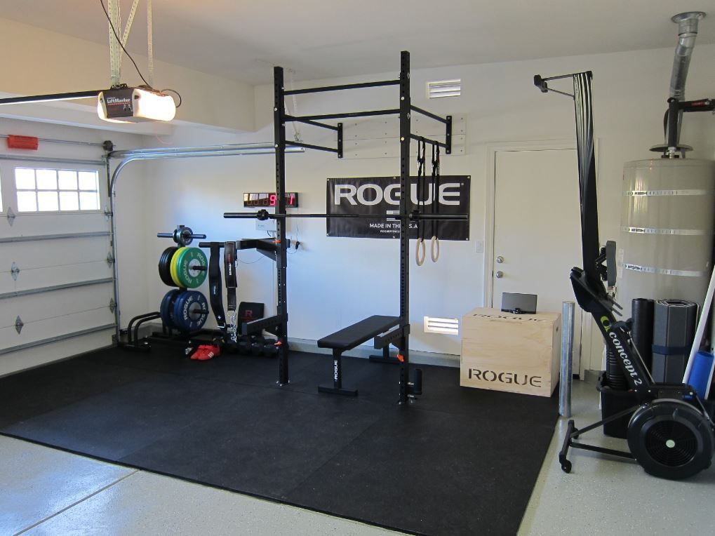 Rogue equipped garage gyms photo gallery sweat factory