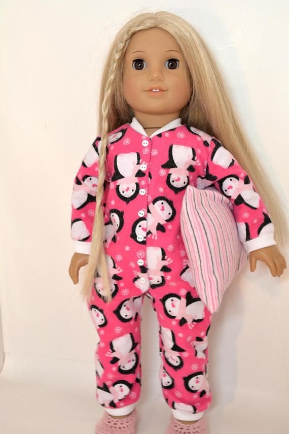 "Handmade Pajamas with Slippers Suit for 18/"" AG American Doll Dolls Decor"
