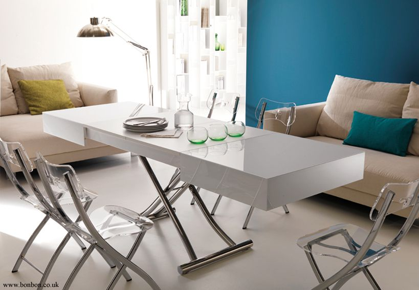 Box Adjustable And Extendable Coffee Dining Table Bonbon