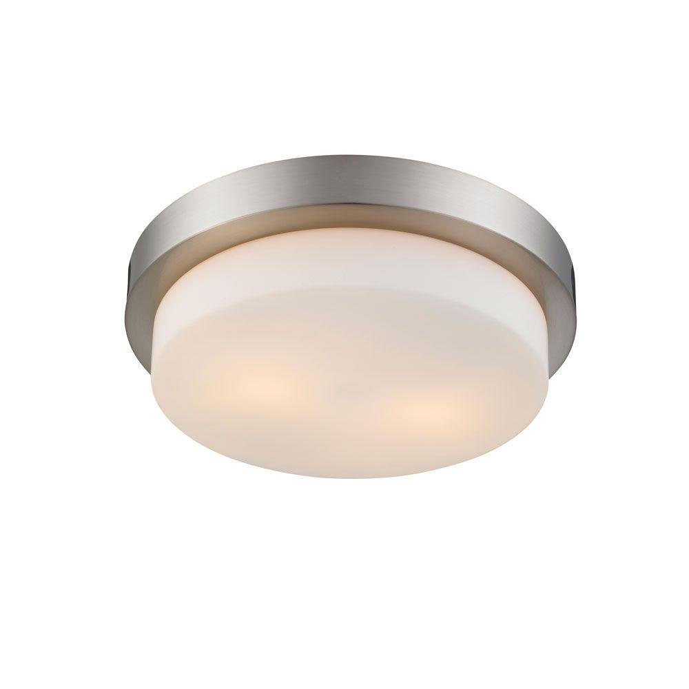Golden Lighting Multi-Family 2 Light Flush Mount  GL-1270-13-PW