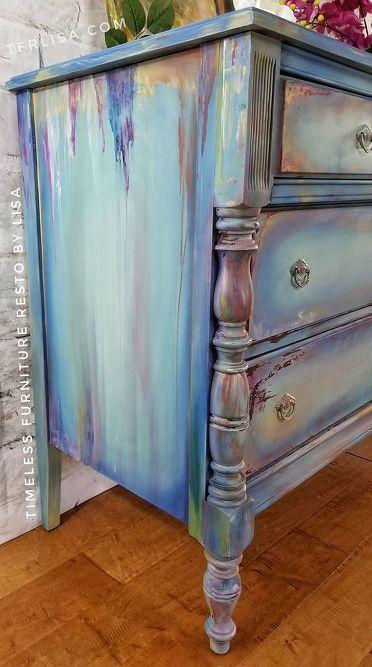 Hometalk - painted furniture - painted dresser - distressed