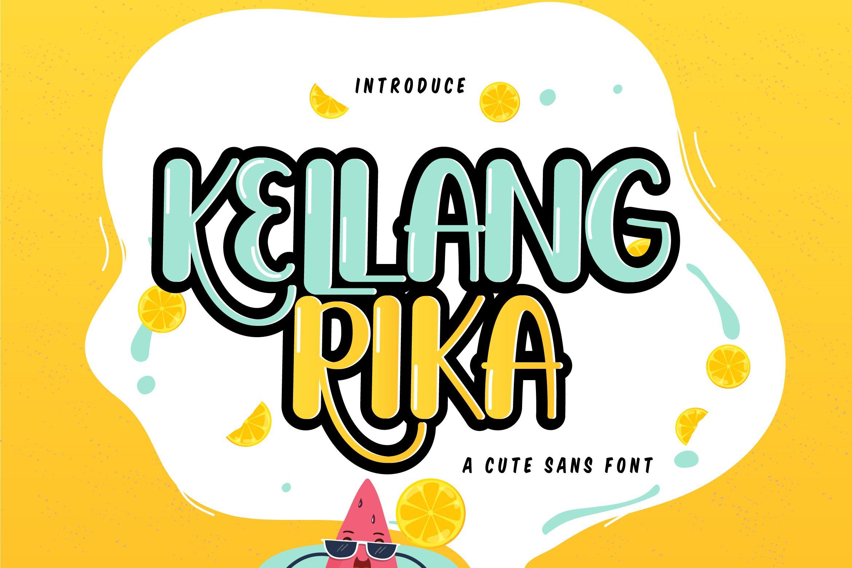 Kellang Rika Cute Sans Font New fonts, Branding
