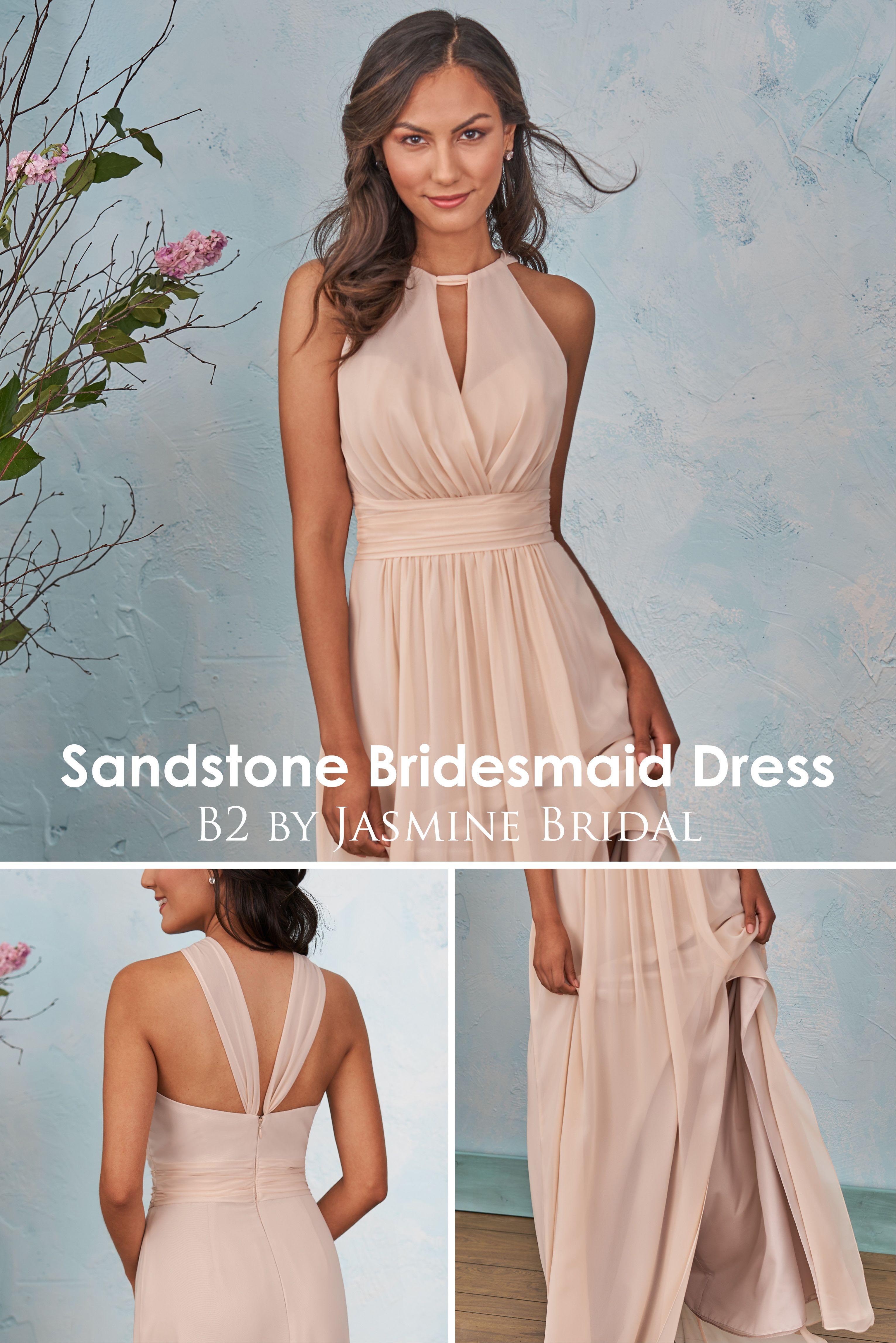 Jasmine Bridal B2 Sandstone Bridesmaid Dress Designer Bridesmaid Dresses Simple Jasmine Bridesmaids Dresses Bridesmaid Dresses Neutral Bridesmaid Dresses