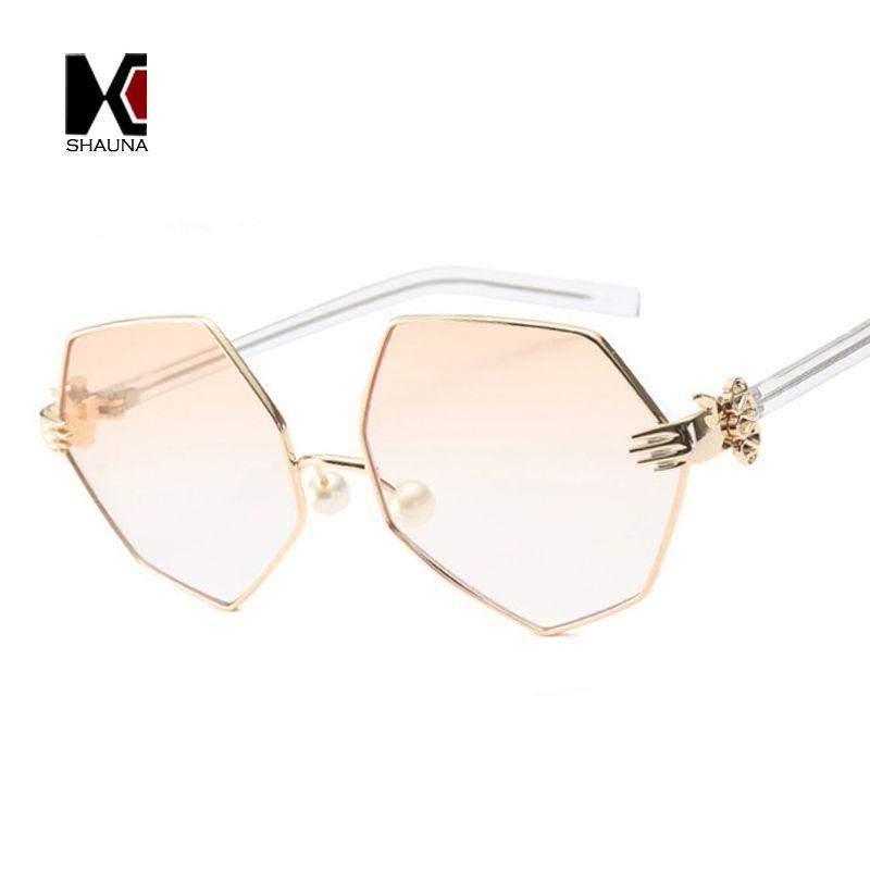Click to Buy << SHAUNA Fashion Women Irregular Square Sunglasses ...