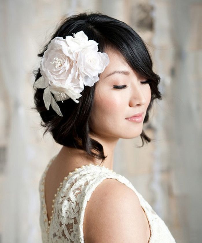 Short Wedding Hairstyles crown detailing for brides with short hair Wedding Hairstyles For Short Hair Womens