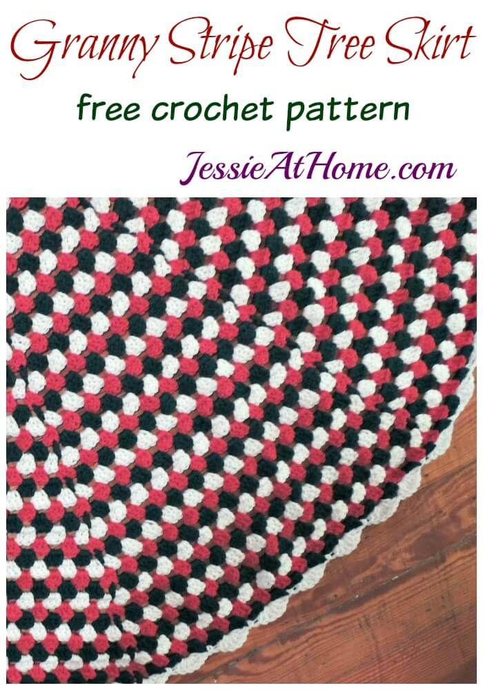 Granny Stripe Tree Skirt free crochet pattern by Jessie At Home ...