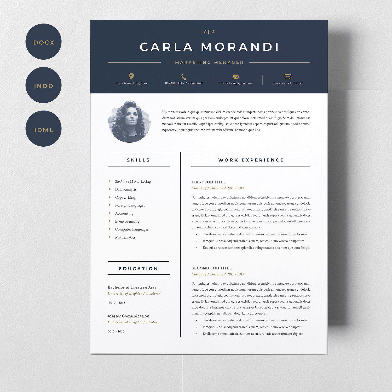Minimal Resume Template Carla filesdayextractsoftware
