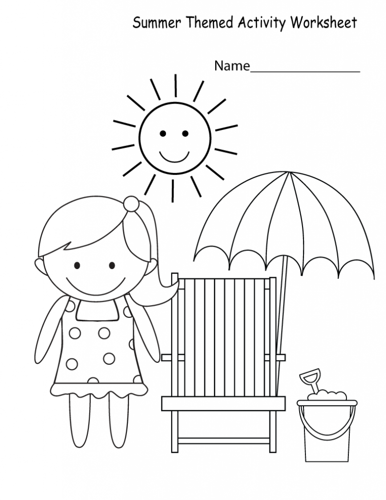 Summer Worksheets | Summer worksheets, Summer coloring ...