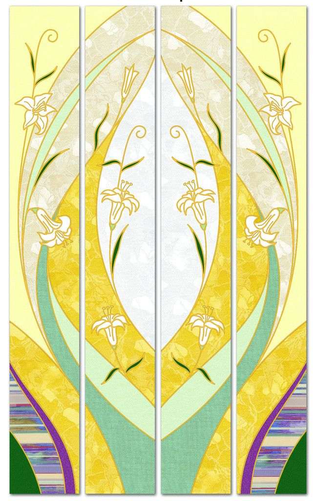 Printed Lily Banners