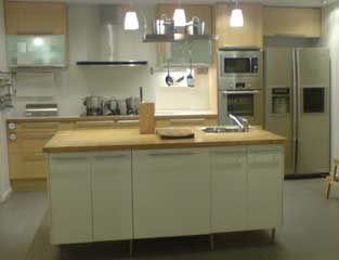 Single Line Kitchen Layout With Island, Island Kitchen, Kitchen Island