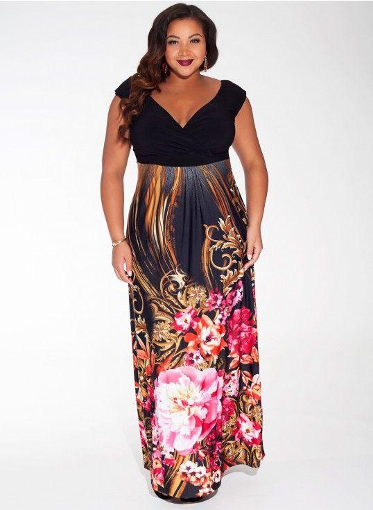 660b2cc958c Sylvia Maxi Dress in Ruby Paradise