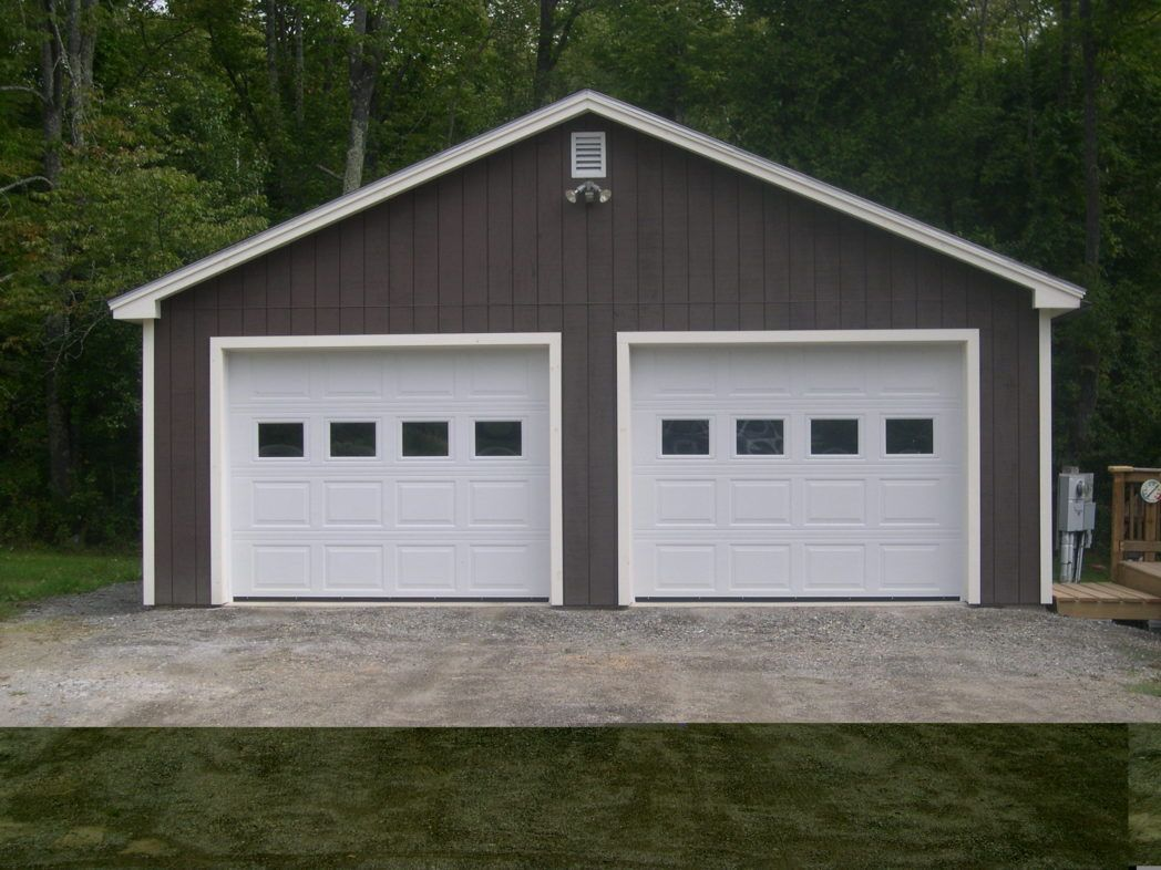 Garage Building Ideas Interior Design Affordable With Grey Wall And White Door Can Add The Mo Building A Garage Garage Door Spring Repair Pole Barn House Plans