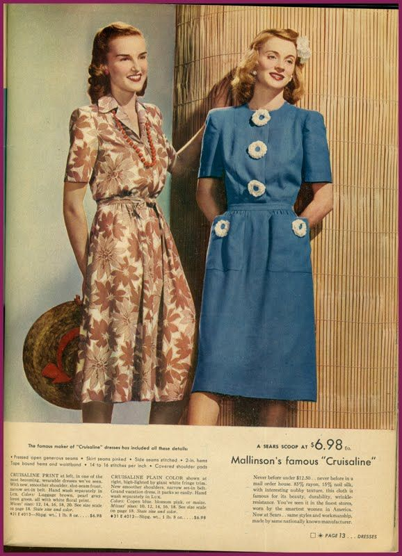 df55efa71f0 1940's fashion sears catalogue | Rationing and Reinvention in 2019 ...