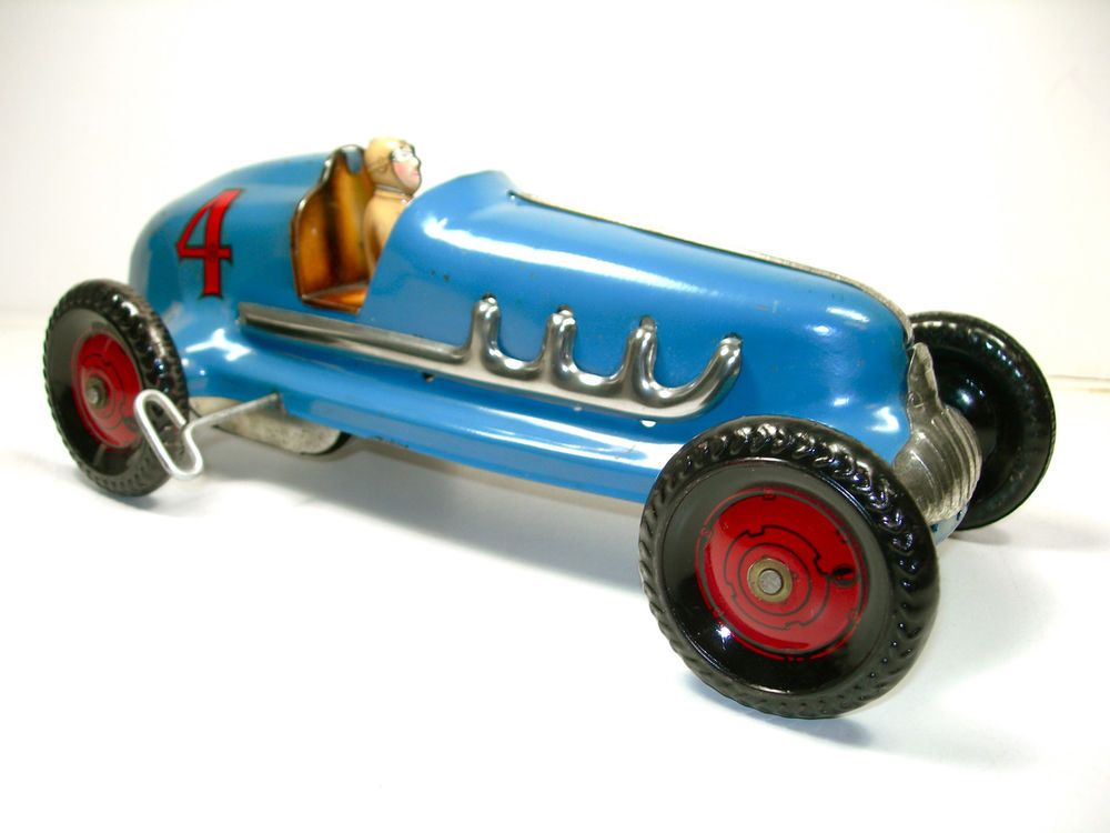 Marx Wind Up Race Car Tin Steel 1930 S 1940 S Indy Dirt Track Hot Rod Hot Rods Old Toys Race Cars