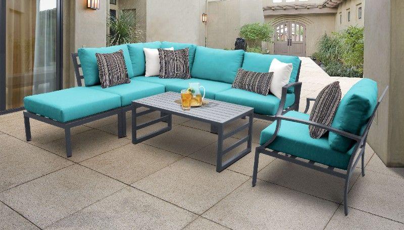 Lexington 7 Piece Outdoor Aluminum Patio Furniture Set 07f In Aruba Tk Classics Lexington 07f Aruba In 2020 Aluminum Patio Furniture Patio Furniture Sets Seating Groups