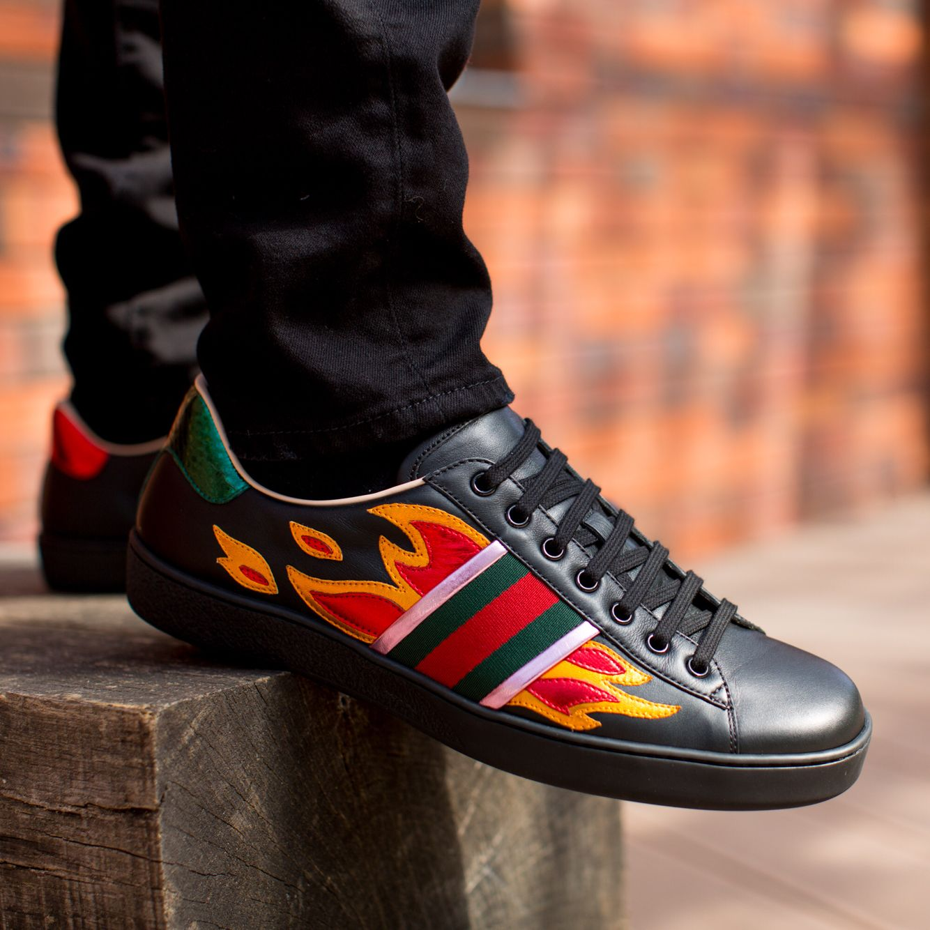 Sneakers fashion, Gucci ace sneakers