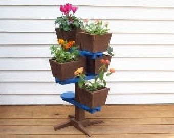 3 Pot Flower Stand Planter Size 29 Ins Tall 15 Diameter At