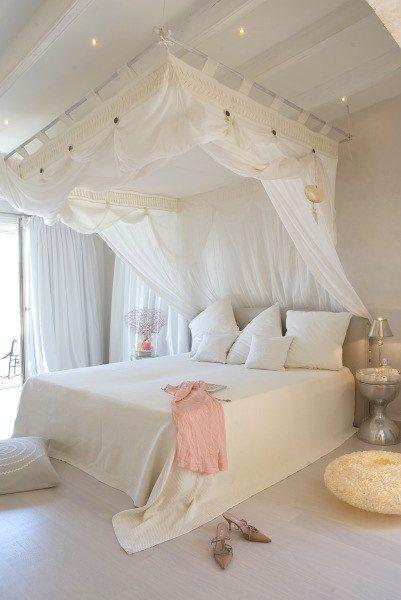 Shorely Chic Dormitorio Con Dosel Dormitorios Dormitorio De