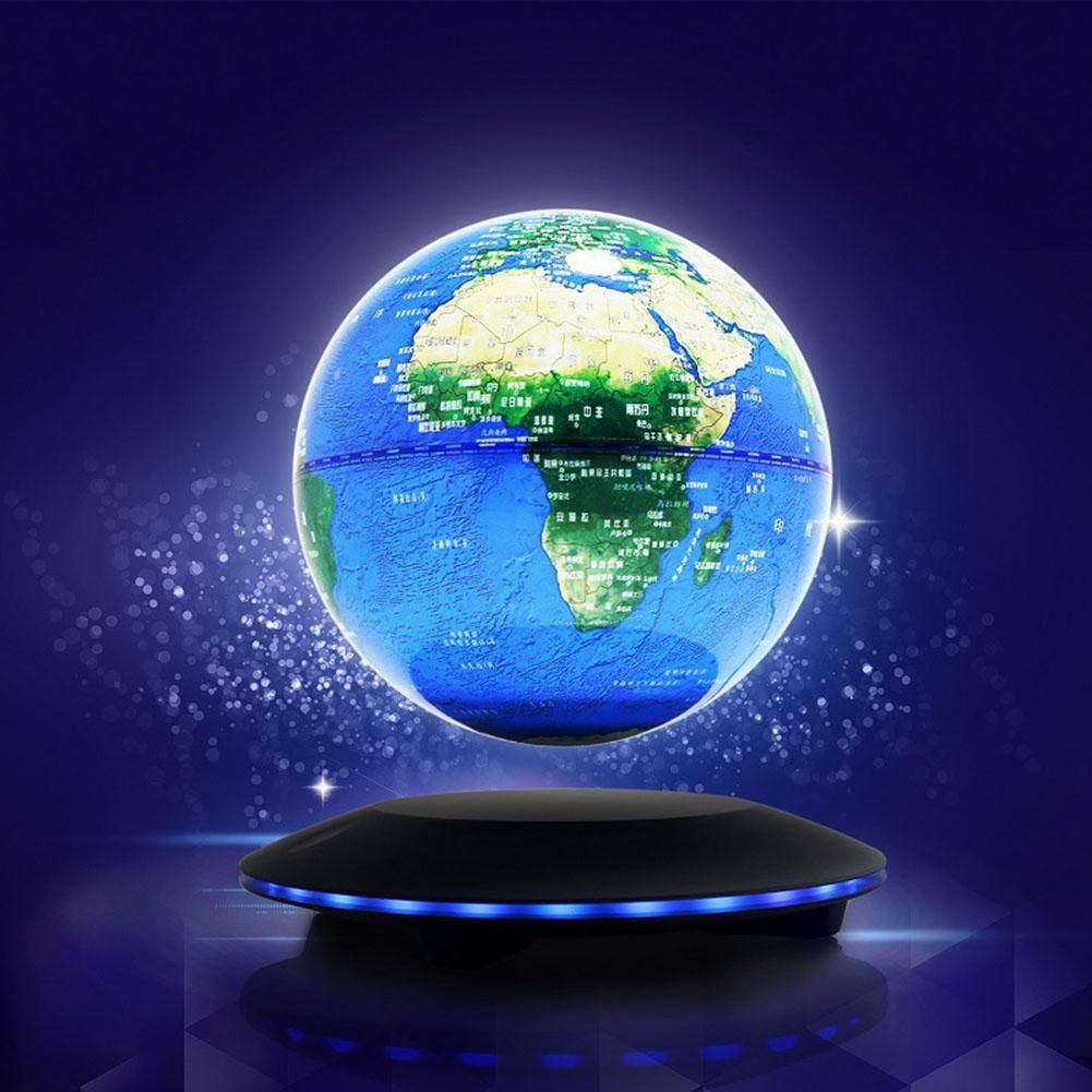 Magnetic levitation floating globe anti gravity world map suspending magnetic levitation floating globe anti gravity world map suspending in the air decoration gadget birthday gift gumiabroncs Image collections