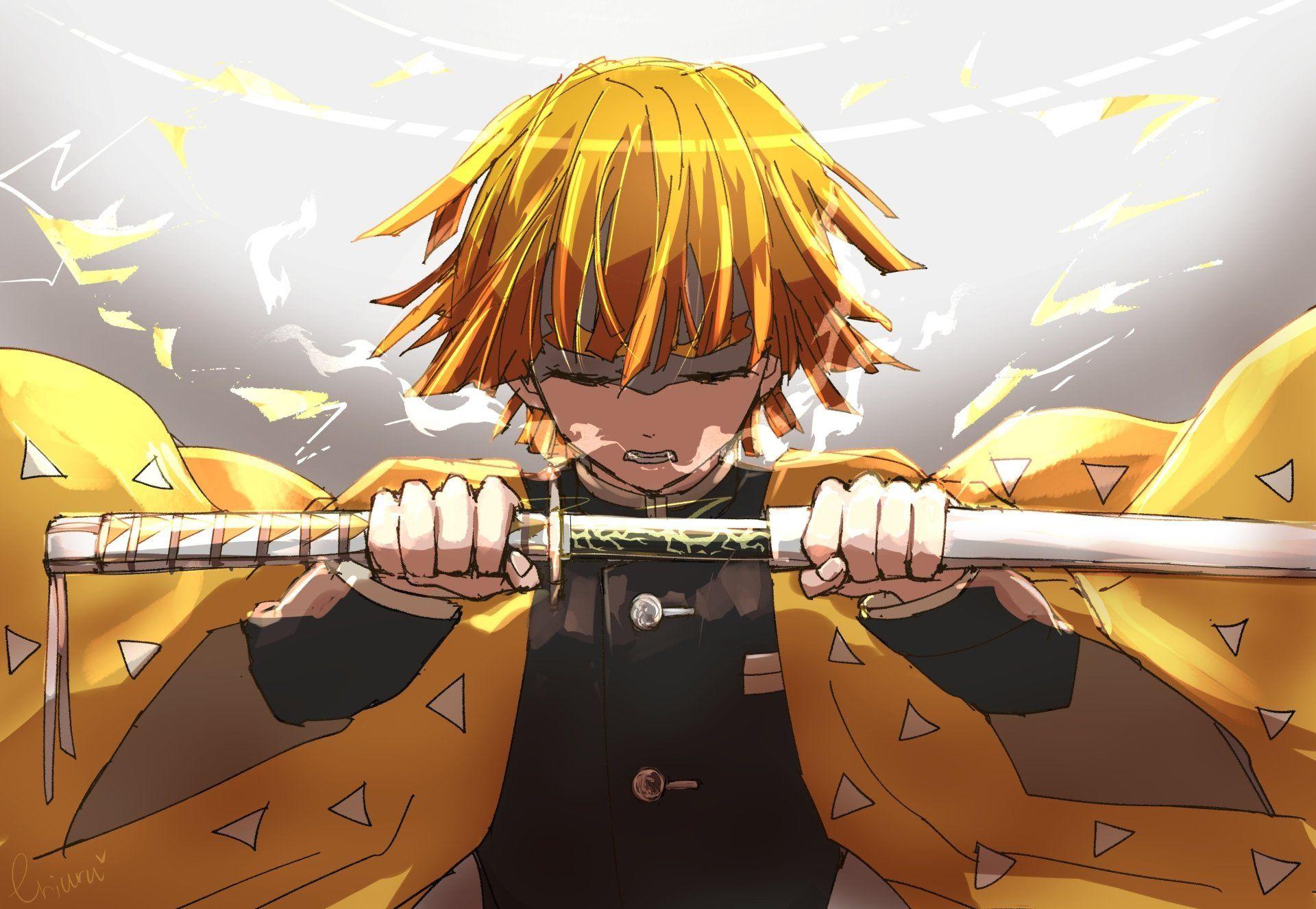 Zenitsu imagens) Animes wallpapers, Personagens de
