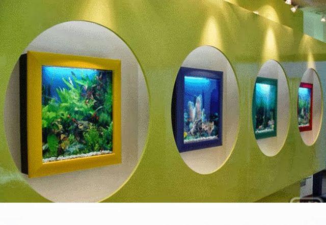 Decorar interiores con peceras y acuarios decor Peceras de diseno