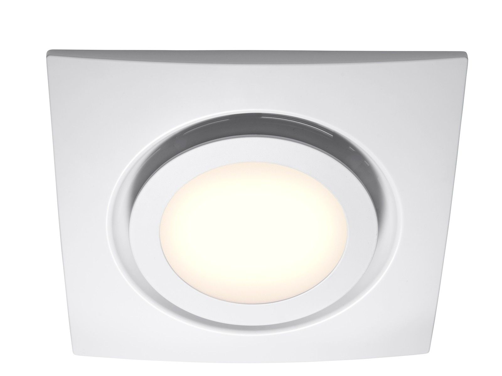 White Exhaust Fan With Led Light With Images Bathroom Fan