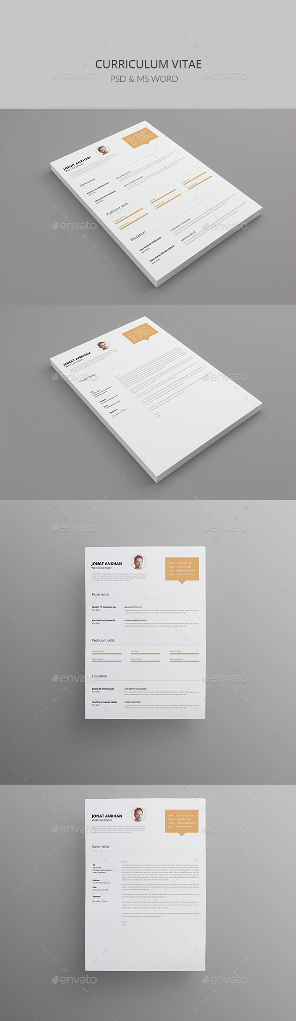 Curriculum Vitae (Resume ) Vol-01 - #Resumes #Stationery Download ...
