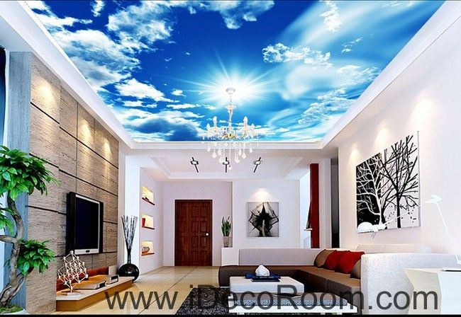 Sunshine Clouds Blue Sky 00082 Ceiling Wall Mural Wall