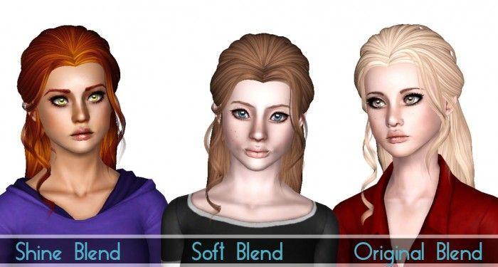 Butterfly 116 hair retextured by SjokoSims - Sims 3