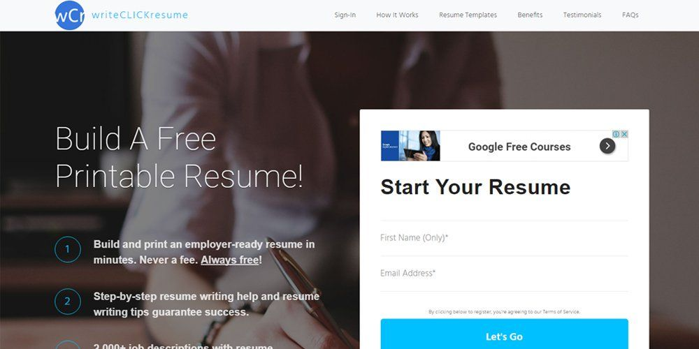 Write Click Resume Online Resume Builders Pinterest Online - how to write a resume online for free