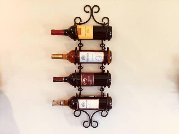 wall mounted wine rack wrought iron