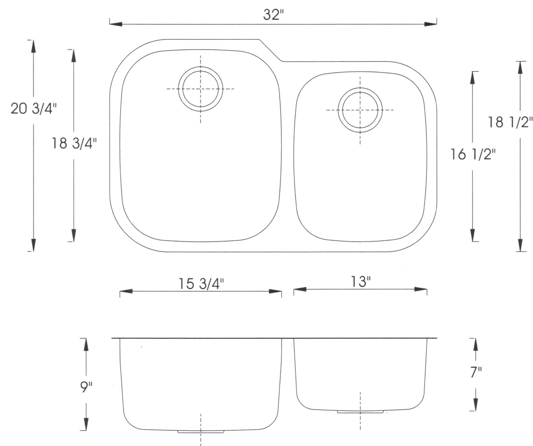 kitchen cabinet dimensions home