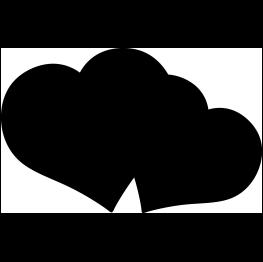 Double Heart Silhouette Dinosaur Silhouette Silhouette Silhouette Clip Art