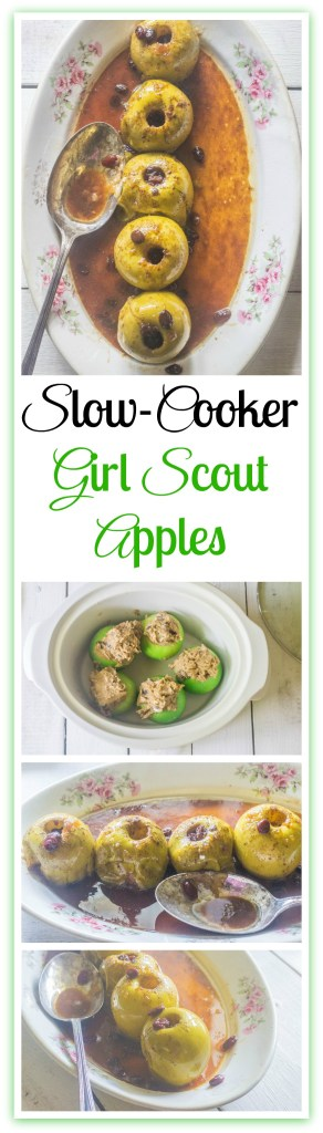SlowCooker Girl Scouts Baked Apples Recipe Slow