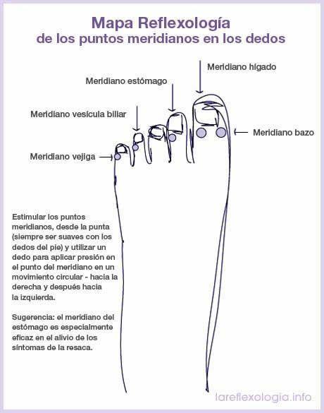 Mapa reflexología puntos meridianos dedos pie | alternativas ...