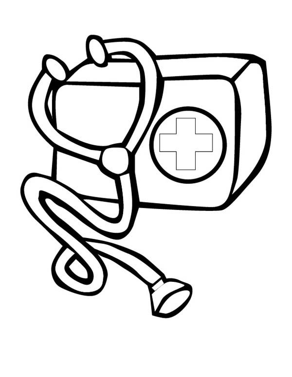 Doctor Medical Bag Kit Coloring Page Coloring Sky Coloring Pages Medical Clip Art Cartoon Coloring Pages