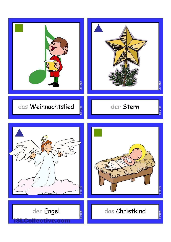Flashcards_Weihnachten_1 | Weihnachten, Deutsch und Schule