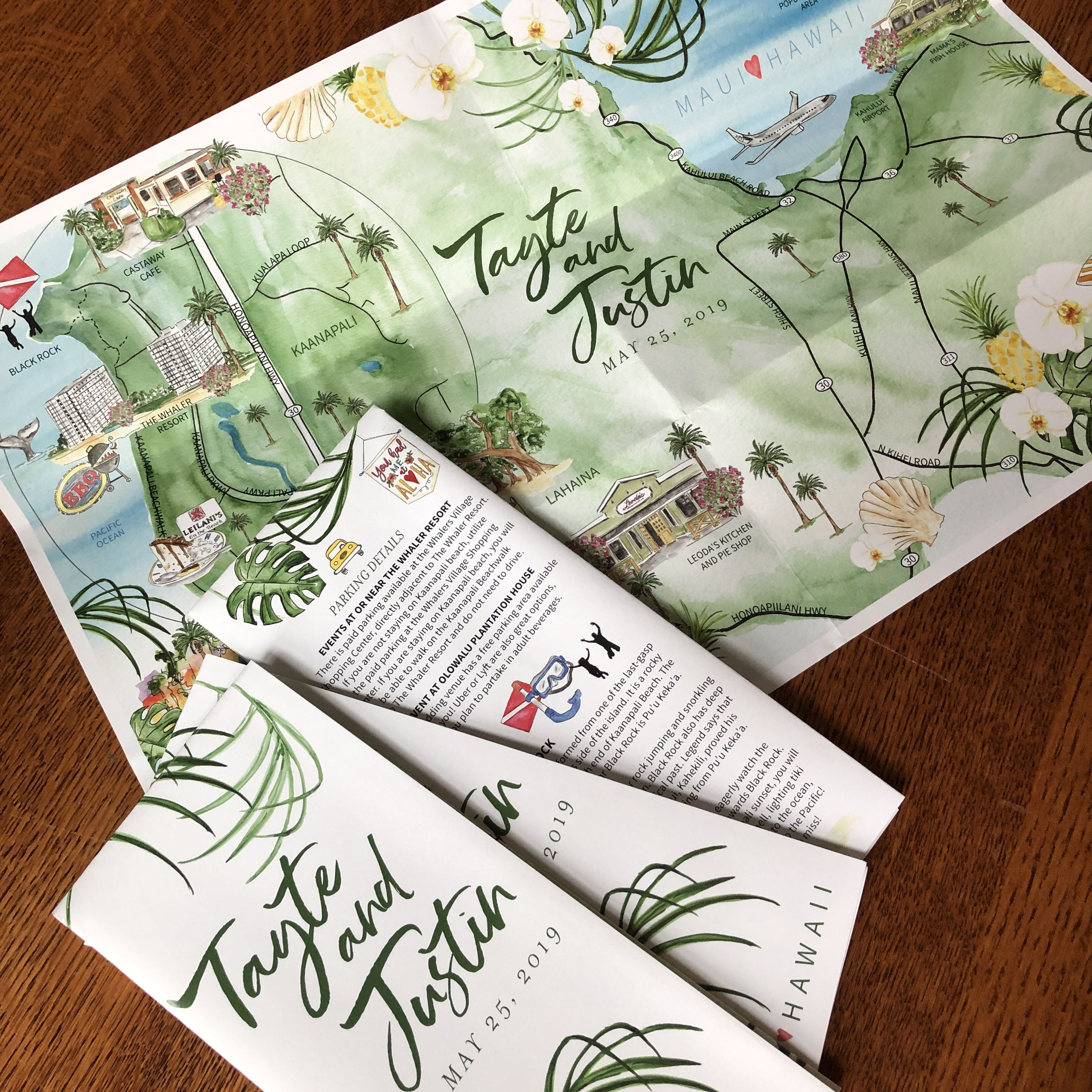 how to make a wedding map invitation