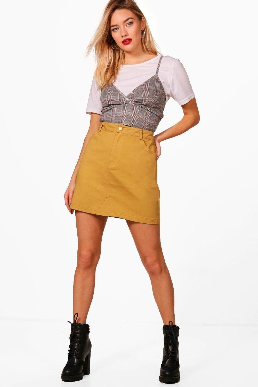 7ec64cb404 Micro Mini Coloured Denim Skirt in 2019 | fabric fragments | Denim ...