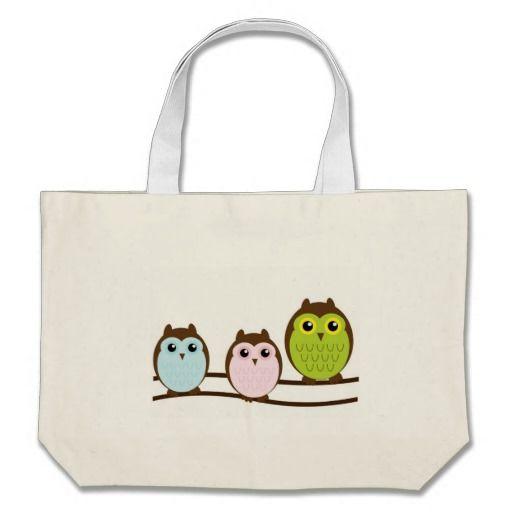 Owls Tote Bags #Owl #Bird #ToteBag #Bag