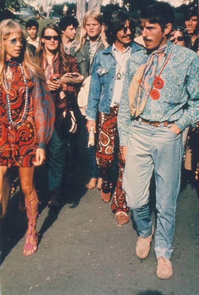 "the60sbazaar: ""Pattie Boyd and George Harrison in San Francisco "" #hippie"