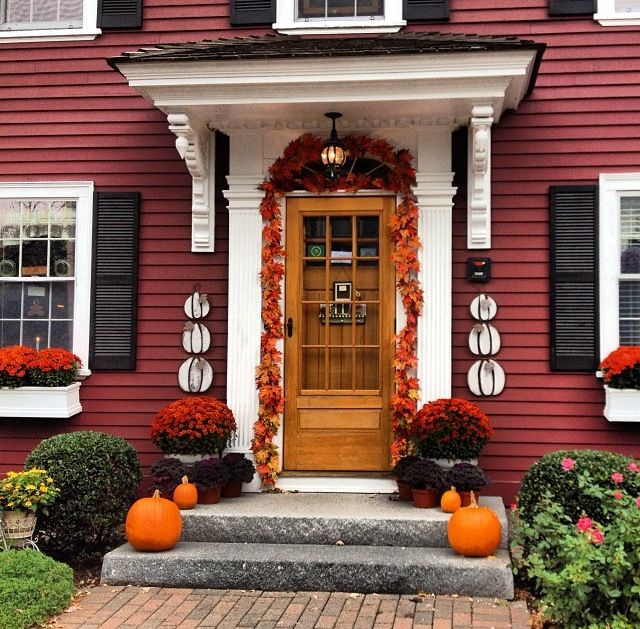 Black Shutters Brown Door. This Was My Initial Thought