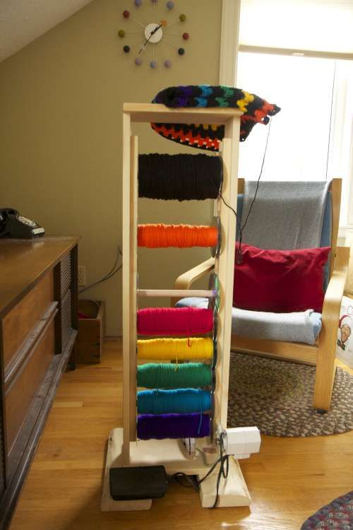 A&E Adventures - Yarn Rack With Motorized Yarn Winder #diyyarnholder