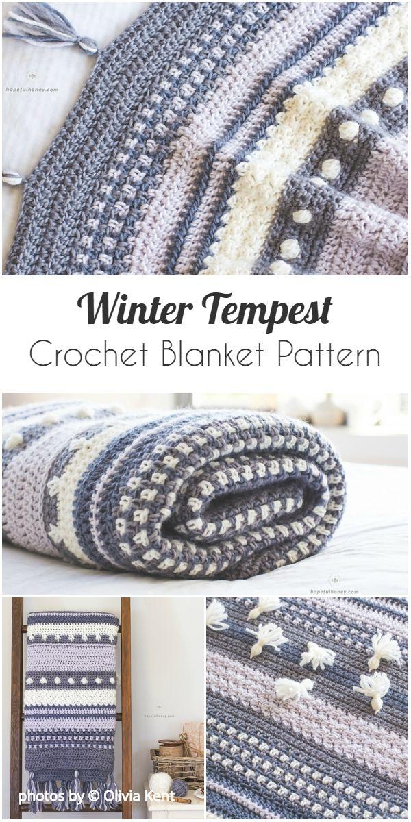 Winter Tempest Crochet Blanket Pattern Idea 1001 Crochet Ideas For