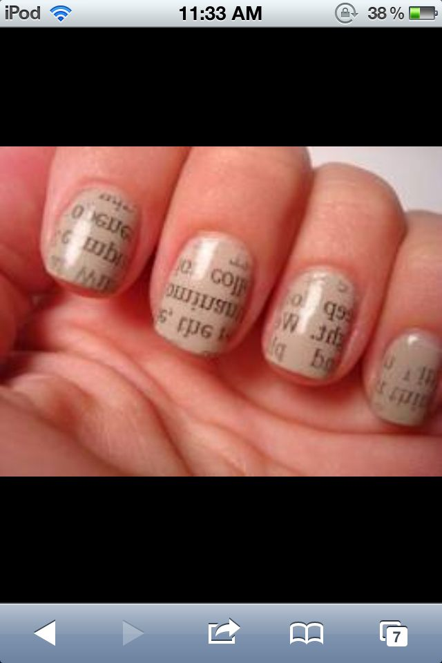 Newspaper nails are sooo cool I\'ve never had them or tried them but ...