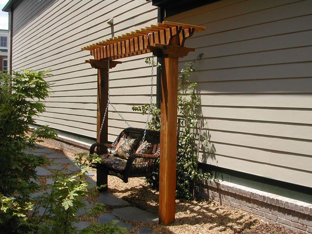 This Arbor Swing Appears To Be In An Uninviting Spot Unfortunately    However, I Do Like The Way Itu0027s Made. Placement Of An Arbor Swing Should  Always Be ...