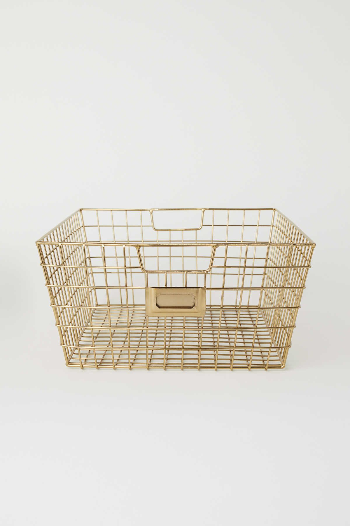 Metal Wire Basket With Handles At Sides Size 6 X