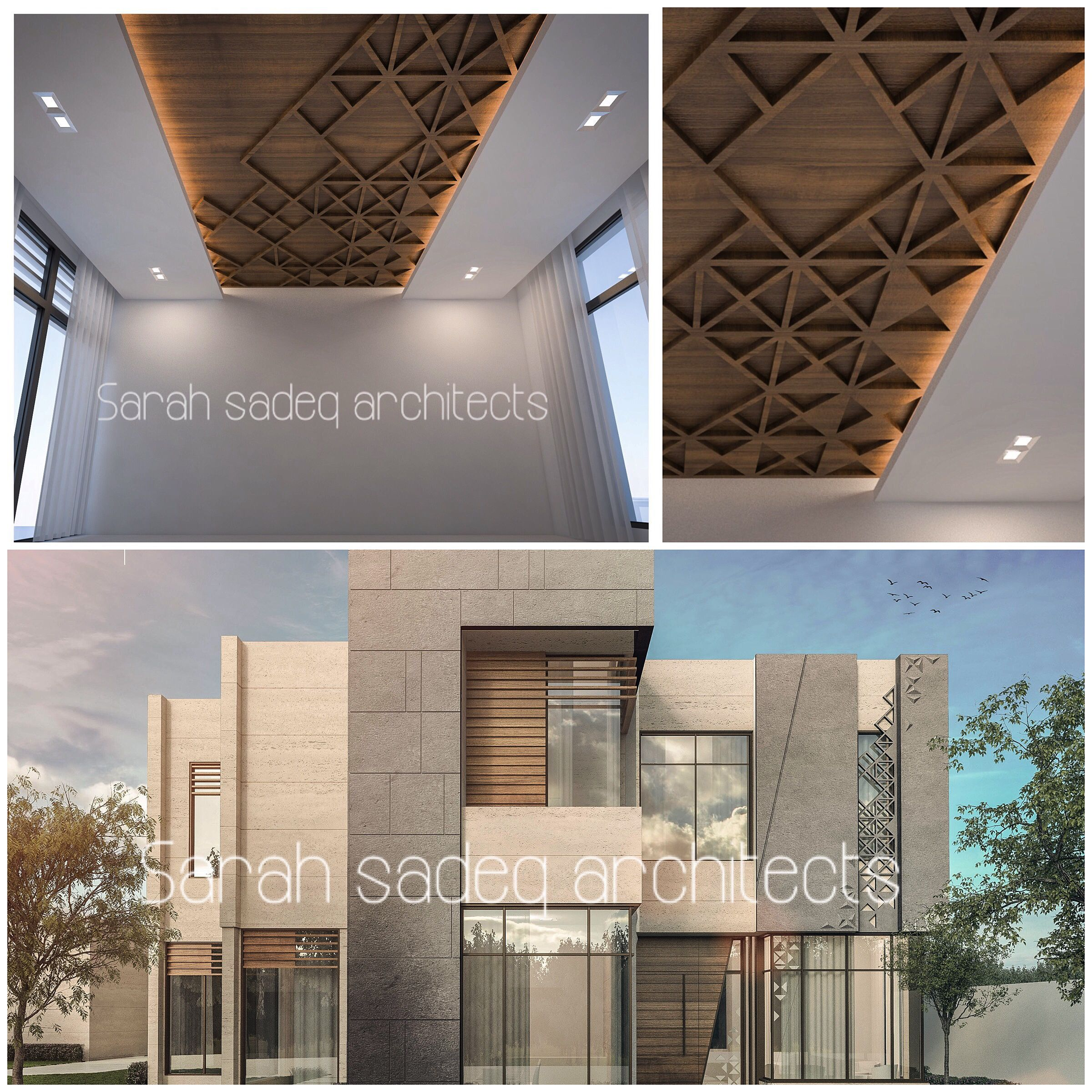 Uae private villa by sarah sadeq architects sarah sadeq architectes pinterest uae villas Home of architecture planning uae