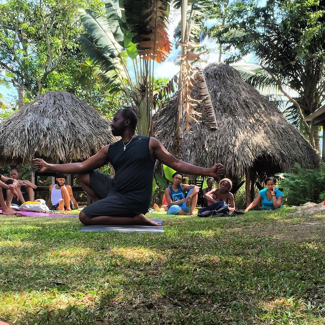 Master Kemetic Yoga instructor Yirser Ra Hotep demonstrating Pose of Immortality.  #KemeticYoga #poseofimmortality #healthyliving #holisticliving #Jamaica #retreat #Negril #yogaretreat #wellness #Yoga #Hotep